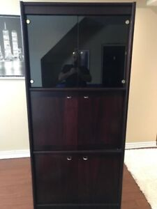 3 living room cabinets, hutch, curio,buffet