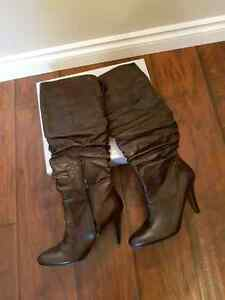 Aldo Boots (Brown Synthetic) Brand New