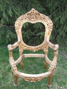 Antique Ornate Carved Kings Chair-Will Deliver-Nominal Charge