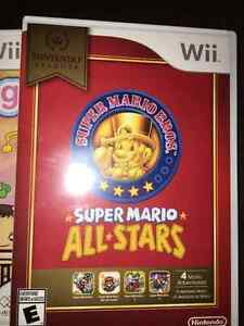 Wii games Super Mario Bros All Stars