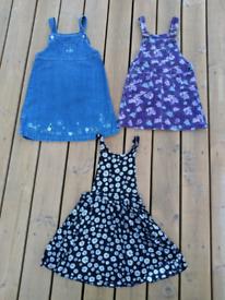 Girls 5-6yrs pinafore dress bundle.