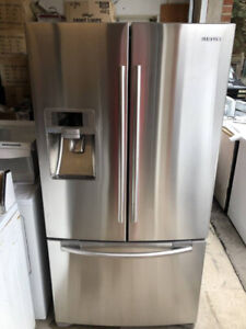 SAMSUNG STAINLESS STEEL FRENCH DOOR BOTTOM FREEZER ICE / WATER