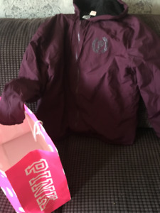 PINK By Victoria secret. NWT.  Burgundy spring jacket.