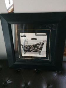 Beautiful Black & White Bathroom Picture 42 cm X 42 cm