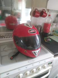 Motorcycle helmet red large