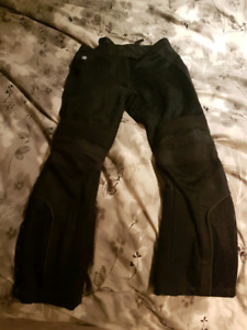 Large Black Joe Rocket Motorcycle Pants