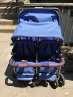 Quad foundations stroller with brand new cover