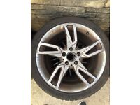 Mercedes alloys. Came of a 63 plate C class.
