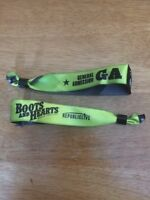2 General Admission Boots and Hearts Wristbands