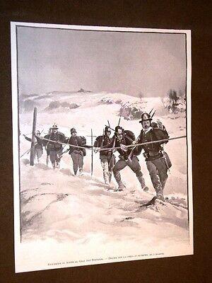 Alpini e Alpinismo nel 1906 Escursione al Gran San Bernardo Discesa con la corda