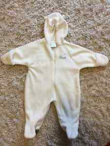 Thin Fleece snowsuit 3-6 months