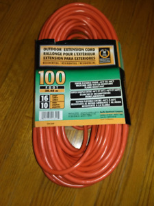 100 ft Extension Cord - New