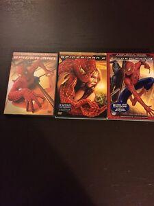 Spider-Man DVDs, 3 included