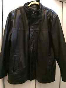 Black Genuine Leather Jacket - XL (Old Hide House) Kitchener / Waterloo Kitchener Area image 1
