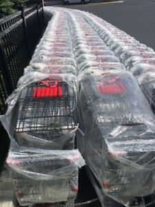 Massive shopping carts & shopping baskets for clearance sale