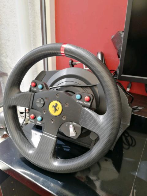 Thrustmaster t300 Ferrari GTE wheel and pedals | in Basildon, Essex |  Gumtree