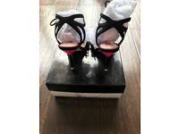 Miss KG Edie Black Suedette Occasion Stilettos size 37