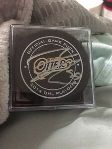 Connor mcdavid Erie otter autographed puck