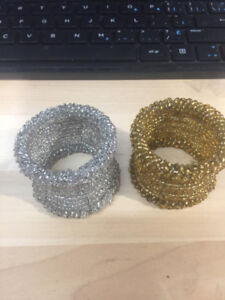 Napkin Rings: Gold and Silver
