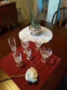 Crystal Glassware:  Pattern - LOUVRE by CRISTAL D'ARQUES-DURAND