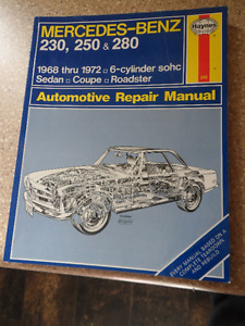 Haynes Manual Mercedes Benz 230,250,280 1968-1972
