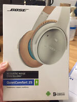 Brand new Bose SoundLink Bluetooth wireless Headphones in white.