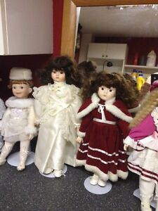 12 collector dolls