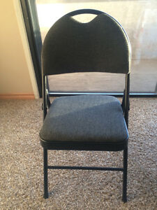 Deluxe folding fabric chair