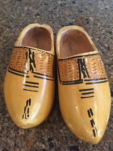 Antique Wooden Dutch shoes