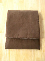 iPad Case---Brown Suede