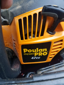 wanted, poulan pro chainsaw for parts.  crank.
