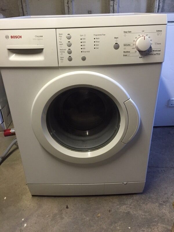 Bosch 1200 Washing Machinein Dalgety Bay, FifeGumtree - Bosch 1200 washing machine. Good working order. Ideal for starter home. I also have Bosch dishwasher for sale and can offer deal if both purchased. Buyer collects