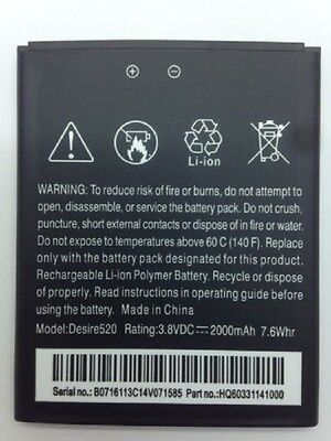 Lot Of 5 Battery For Htc Desire 520 Cricket 0pgq100 B0pm3...