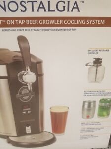 NEW  Nostalgia Homecraft on Tap Beer Growler Cooler S/S