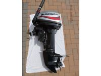 Outboard engine Mariner Mercury 15 hp outboard motor inflatable rib boat engine fishing dory