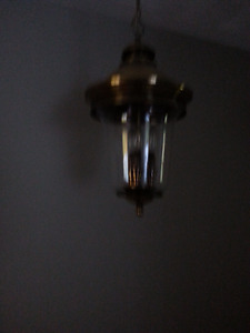 chandelier and two flush mount fixtures