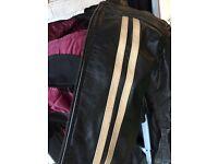 "Leather bike jacket mens 50 """