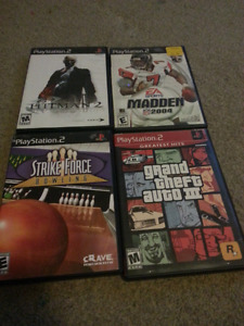 4 PlayStation 2 games 2 dollars each