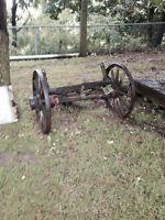 Wagon Wheels on Axle