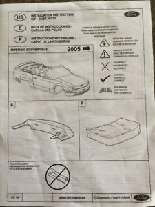Ford Mustang OEM Convertible dust cover