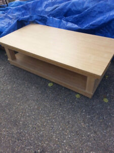 2  Large Coffee Tables on industrial Casters