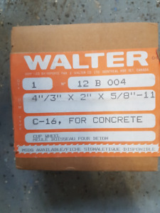 Walter Angle Grinder Four HP Brand new Cup Wheels for Concrete