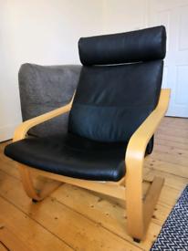 Black IKEA Armchair