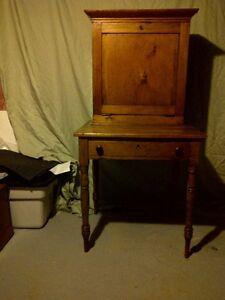 Antique Pine Drop Front Desk