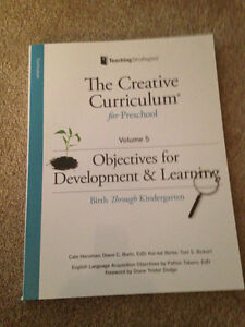 Creative Cirriculum Vol 5 -Objectives for Development & Learning