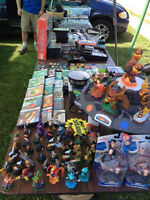 GIANT STREET CORNER SALE. VIDEO GAMES, TOYS, DVDS
