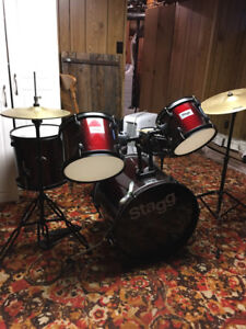5 Piece Drum Set. Almost like new and  barely used.