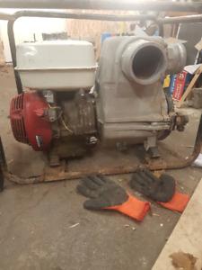 "4"" Tsurumi Trash pump with Honda Motor"