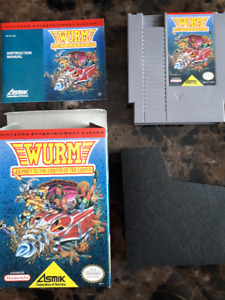 NES Wurm: Journey to the Center of the Earth (w/ box and manual)