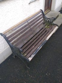 Beautiful Cast Ended Garden Bench